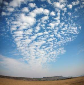 Winter sky over the Deccan plateau, India