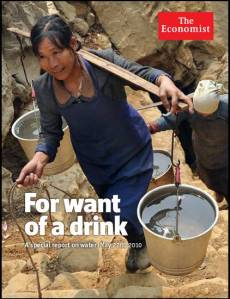 Courtesy, The Economist, special report on water, 22 May 2010