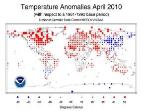 State of the Climate, Global Analysis, April 2010, National Oceanic and Atmospheric Administration (NOAA), National Climatic Data Center