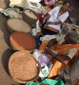 Local grain in Mapusa market, North Goa